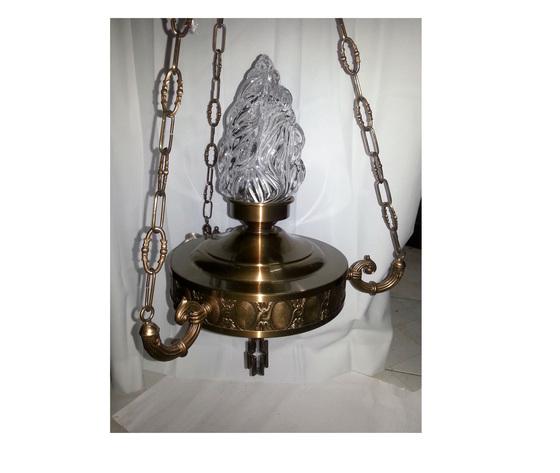 LAMPADA IN OTTONE CON BRACCETTI DI FUSIONE