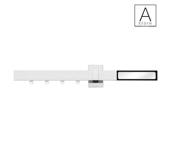 Cassandra sistema decorativo moderno per tende d'arredo in alluminio