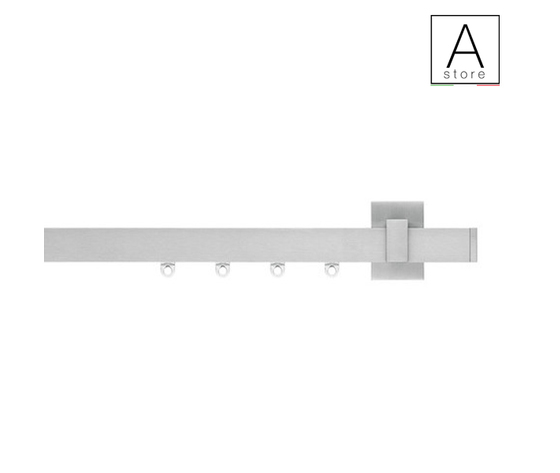 Sibilla sistema decorativo moderno per tende d'arredo in alluminio