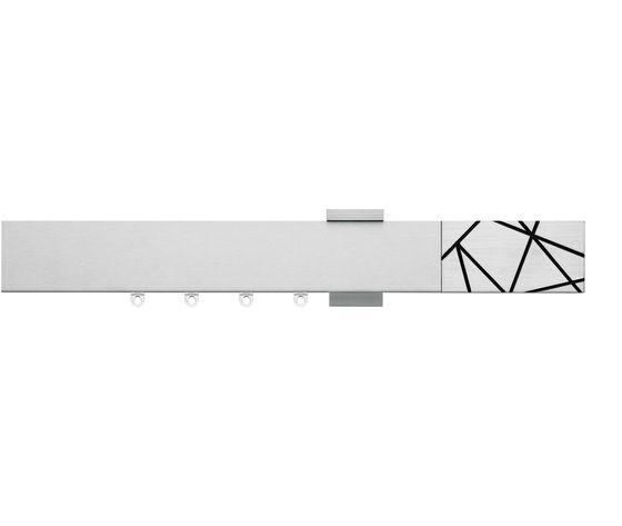 Artemide Scaglioni, sistema decorativo moderno per tende d'arredo in alluminio