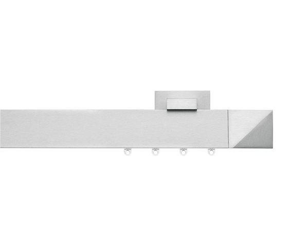 Sistema decorativo moderno per tende d'arredo in alluminio