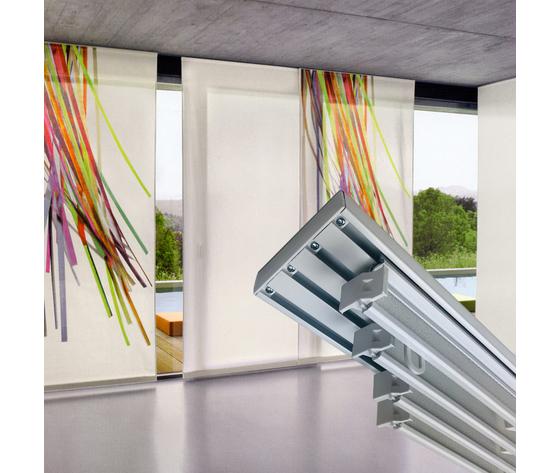Tende A Pannello Velcro.Sistema Per Tende A Pannello 4 Vie Interamente In Alluminio