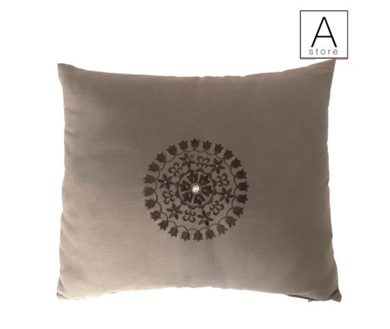 Cuscino 40X30 Tessuto AGENA con inserto ricamato ,cuscini on line,divano, cuscino d'arredo, made in italy