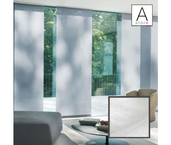 Tessuti Tende A Pannello.Tenda Pannello D Arredo In Lino Bianco Realizzata Su Misura Aus Store It