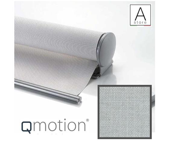 Tenda a rullo motorizzata a batteria Tecnologia Qmotion tessuto filtrante Zinco RessTende