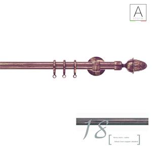 CASTORE Scaglioni bastone per tende diam. 20 mm nero opaco rame