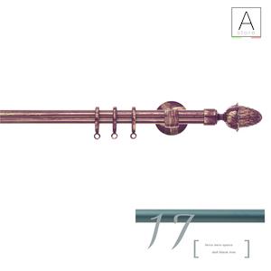 CASTORE SCAGLIONI, SISTEMA DECORATIVO PER TENDE IN FERRO DIAM 20 MM, TRATTATO NERO OPACO  (F17)