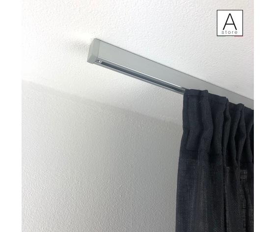 SKI EVO binario decorativo per tende in alluminio satinato