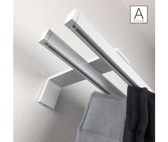 Sistema professionale DECORATIVO per tende morbide in alluminio a strappo apertura centrale MADE IN ITALY