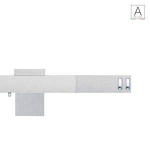 Mesenzio scorritenda decorativo in alluminio mm 23x16 con inserti in Swarovski