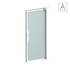 Susy è una zanzariera avvolgibile da esterno laterale per porta, ideale per balconi, con cassonetto da 50, chiusura magnetica e movimento a molla.