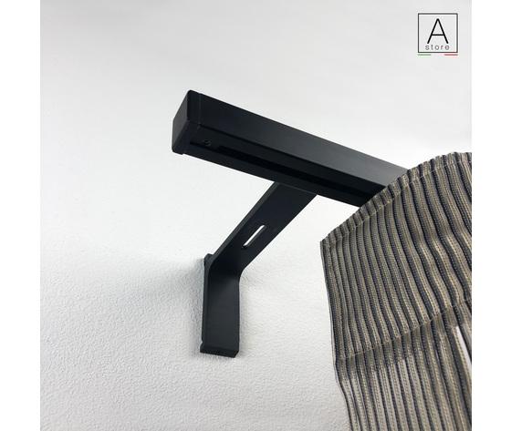 """Modifica Prodotto """"Cubo sistema professionale in alluminio 24x24 Anodizzato Nero con supporto decorativo"""""""