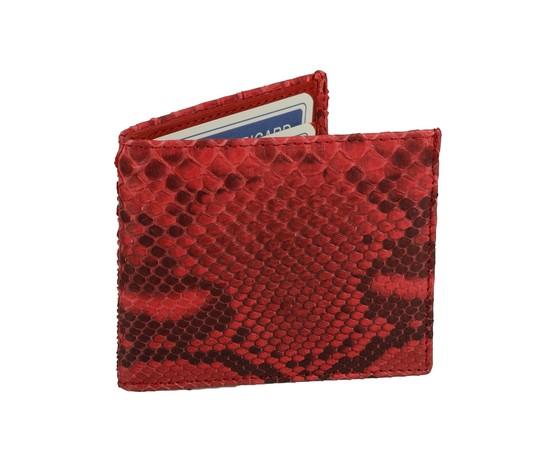 Porta carte di credito in pelle di pitone rosso