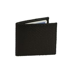 Porta carte di credito in pelle di pitone nero