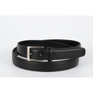 cintura vitello liscio nero 3 cm