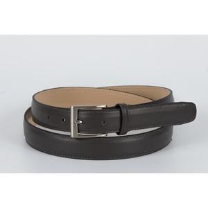 cintura vitello liscio grigio 3 cm