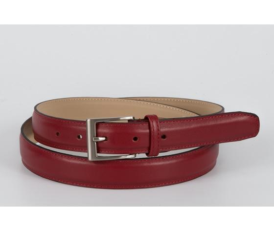 cintura vitello liscio  rosso 3 cm
