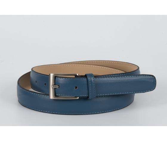cintura vitello liscio jeans 3 cm