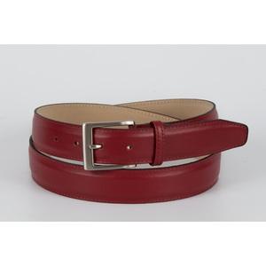 cintura vitello liscio  rosso 3,5 cm