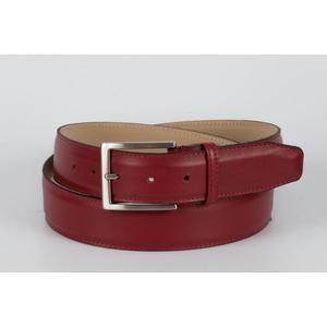 cintura vitello liscio  rosso 4 cm
