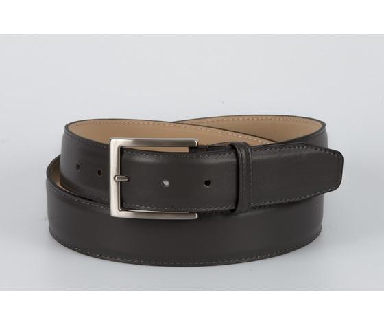 cintura vitello liscio grigio 4 cm