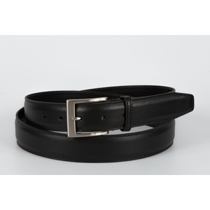 cintura vitello liscio  nero 3,5 cm