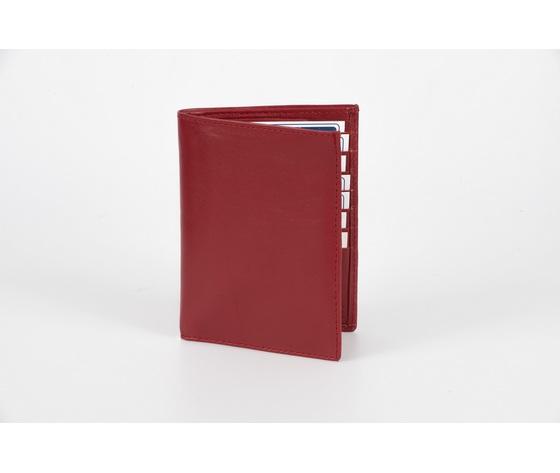 portafoglio verticale rosso