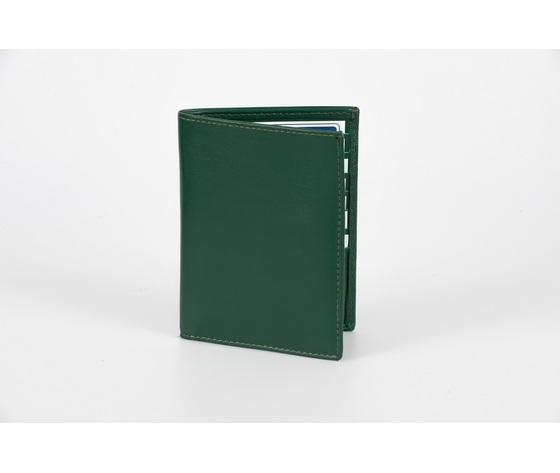 portafoglio verticale verde