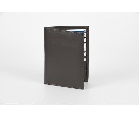 portafoglio verticale grigio