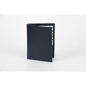 portafoglio verticale blu