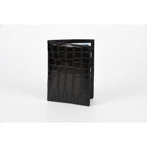 portafoglio verticale vitello stampa cocco nero