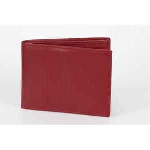 portafoglio classico uomo rosso
