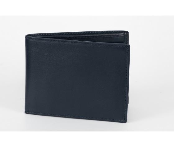portafoglio classico uomo blu