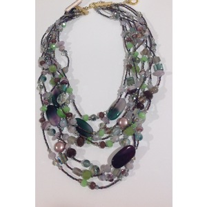 Collana multifilo agate e cristalli Ottaviani