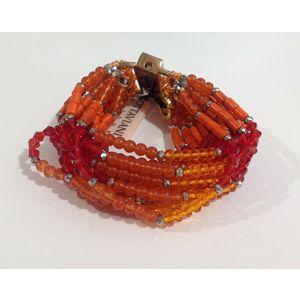 Bracciale multifilo arancione Ottaviani