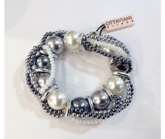 Ottaviani perle bianche e grigie