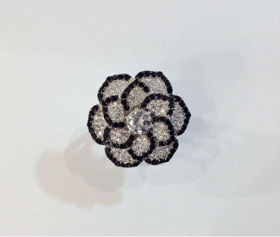 Ottaviani anello argento e nero