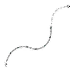 Bracciale tennis bianco e verde BluAmante