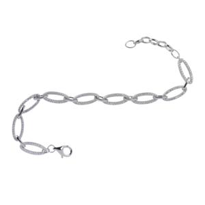 Bracciale catena ovale BluAmante