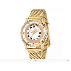 Orologio donna Galliano nouveau 3h white/gold dial braciel