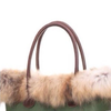 Borsa o bag bordo in pelliccia
