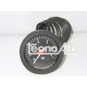 MANOMETRO CAPILLARED52 SCALA 0/4 BAR 1/4 NERO 91400224 RICAMBIO COMPATIBILE