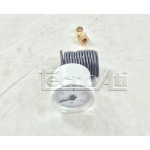 MANOMETRO CAPILLARED40 SCALA 0/4 BAR 1/4 BIANCO 91400120 RICAMBIO COMPATIBILE