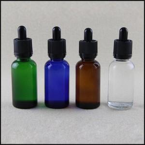 Boccetta in vetro trasparente con contagocce Childproof Tamperproof 10ml