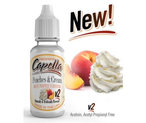 Aroma Concentrato Capella PEACHES CREAM V2– 13ML