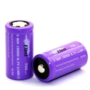 EFEST IMR 18350 700MAH BUTTON 10.5A 3.7V CON PIN