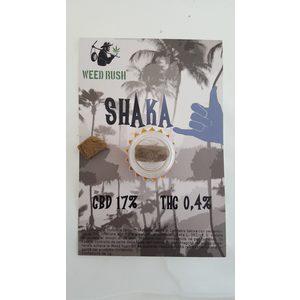 weed rush - SHAKA WEED RUSH CBD 17% SATIVA  - maria, marjana, cbd, thc, fenotipo- cannabinodi - canapa ligth - hashish