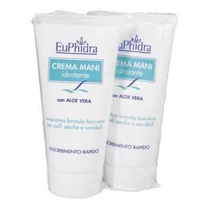 Euphidra Crema Mani Idratante con Aloe Vera 2 PEZZI, 1 in OMAGGIO