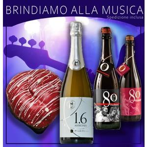 OFFERTA BRINDIAMO ALLA MUSICA con 1 Cuore Soffice in OMAGGIO