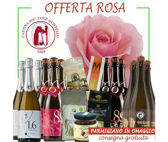 Offerta Rosa con 1 parmigiano in omaggio